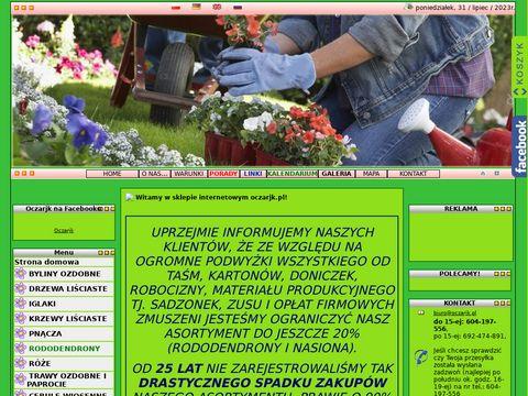 www.oczarjk.pl - krzewy ozdobne, drzewa ozdobne