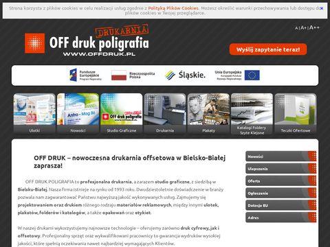 OFF DRUK POLIGRAFIA S.C. druk folderów bielsko biała