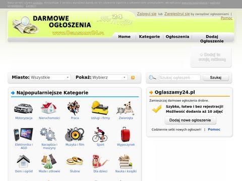 Darmowe ogłoszenia - Oglaszamy24.pl
