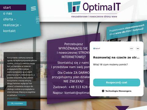 Tworzenie stron internetowych - Optima IT