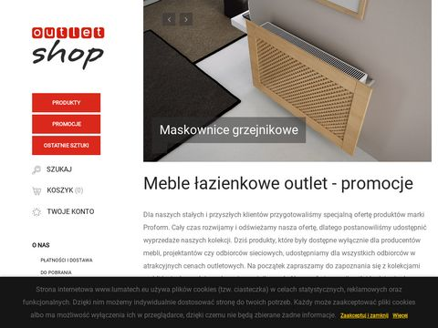Meble łazienkowe outlet