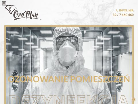 Ozonowanie pomieszczeń - www.ozoman.pl