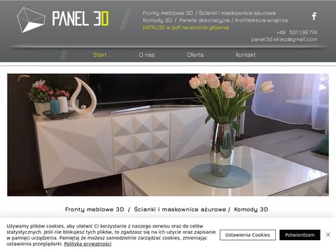 Panele Dekoracyjne 3D MDF