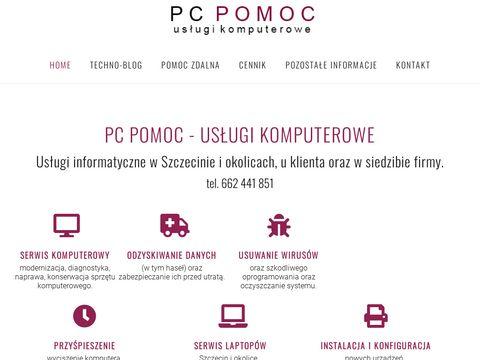 PC POMOC - pomoc informatyczna Szczecin, pogotowie komputerowe Szczecin