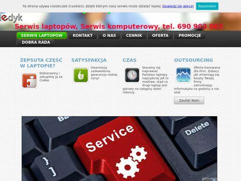 Serwis laptopów Kraków Outsourcing PC Medyk