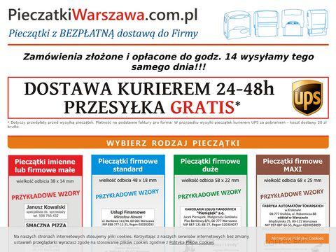 Pieczątki Warszawa – Pieczątki z dostawą do firmy lub mieszkania.