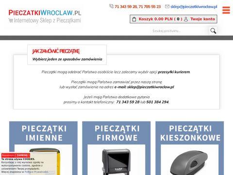 Pieczątki Wrocław – dziś zamawiasz...dziś używasz.