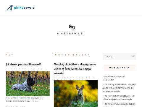 PINKY PAWS obroże dla psów