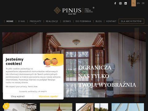 PINUS - Okna i drzwi drewniane
