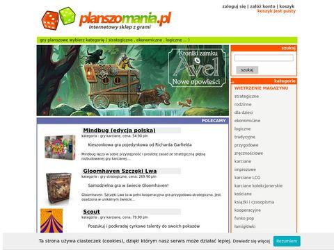 gry planszowe - sklep planszomania.pl