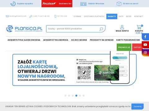 Plantica.pl – akwarystyka, akwaria