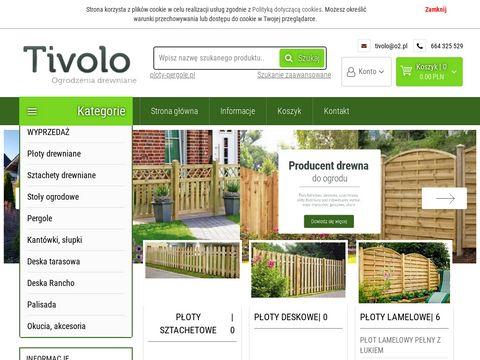Płoty drewniane - pergole ogrodowe