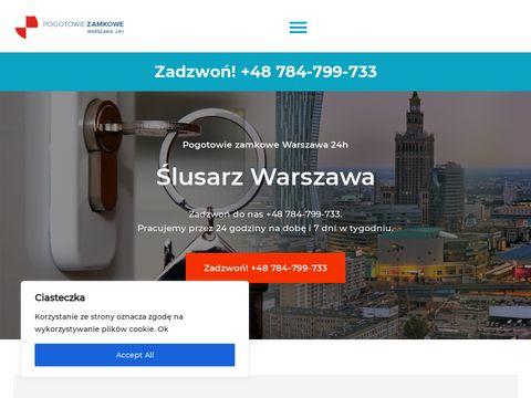 Åšlusarz Warszawa 24/7 Pogotowie zamkowe Warszawa 784-799-733