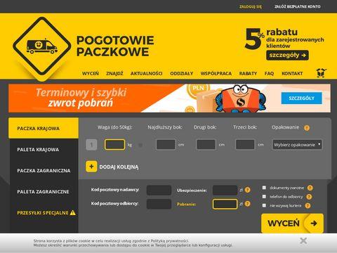 Przesyłki niestandardowe kurierem - www.pogotowiepaczkowe.pl