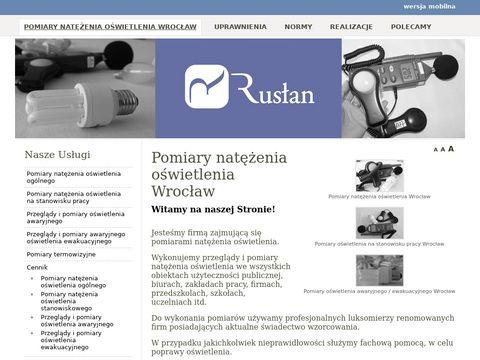 Rusłan - pomiary oświetlenia, Wrocław i woj. dolnośląskie