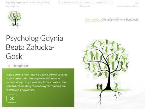 Psycholog Beata Załucka-Gosk Gdynia. Terapia par Gdańsk-Gdynia