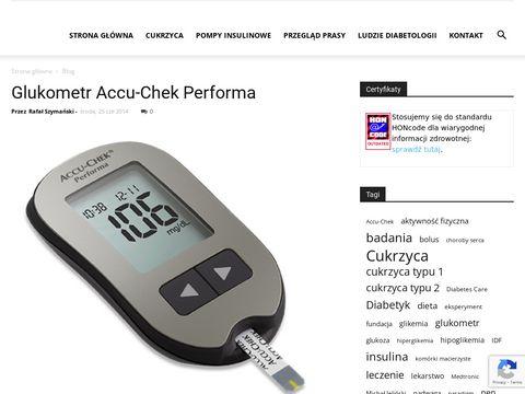 Cukrzyca i pompa insulinowa, glukometr i zestaw in