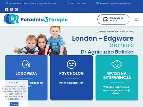 Logopeda dzieciÄ™cy Londyn - poradnia3terapie.pl