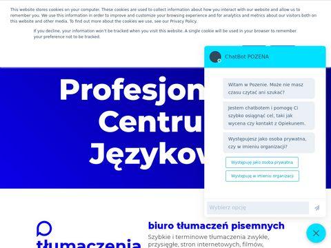 Profesjonalne tłumaczenia pisemne i ustne, szkolenia językowe - Biuro Tłumaczeń POZENA Poznań