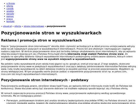Pozycjonowanie stron www. Reklama w Internecie.