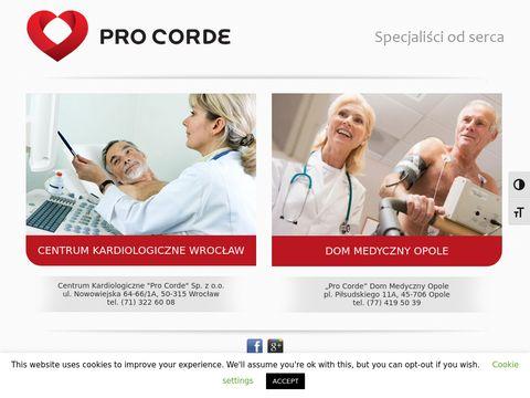 Przychodnia kardiologiczna Opole 鈥� Holter EKG 鈥� USG serca 鈥� Pro Corde