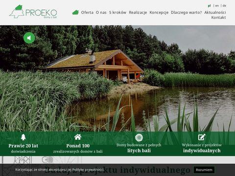 Budowa domu z bali z wyko艅czeniem pod klucz oferuje ProEko.