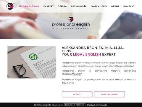 Angielski dla prawników, menadżerów...