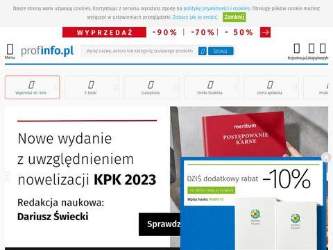 Książki prawnicze - ProfInfo.pl
