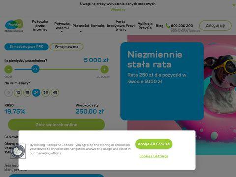 Provident Polska, pożyczki gotówkowe
