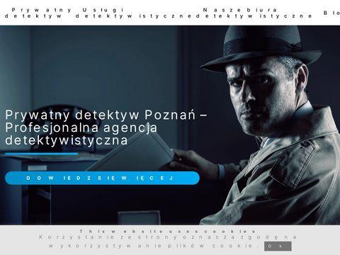 Prywatny detektyw Poznań - Profesjonalna agencja detektywistyczna