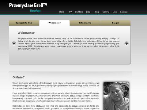 Specjalista SEO - Przemys艂aw Grell