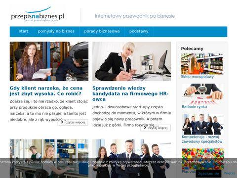Przepis na Biznes - Pomysły na dochodowy biznes