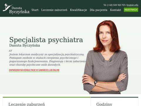Byczyńska Danuta - Specjalista Psychiatra. Gabinet