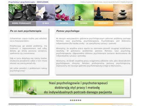 Psycholog Warszawa, Psychoterapia Warszawa, Psychoterapeuta Warszawa