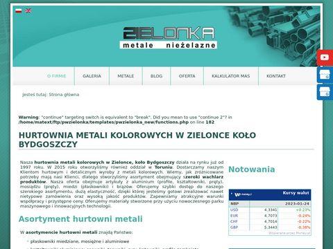 PRZEDSIĘBIORSTWO WIELOBRANŻOWE ZIELONKA kształtowniki aluminiowe