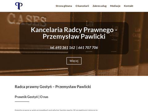 Kancelaria prawna w Gostyniu - Radca-Pawlicki.pl