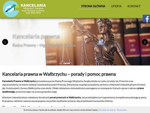 ZARĘBA WOJCIECH kancelaria prawna Wałbrzych