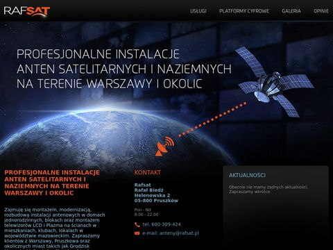 Rafsat - instalacja anten satelitarnych Pruszków
