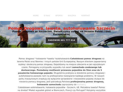 pomoc drogowa, holowanie, Szczecin