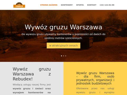 Rebudex - Wyw贸z gruzu Warszawa, wyw贸z 艣mieci Warszawa - od 300 z艂!