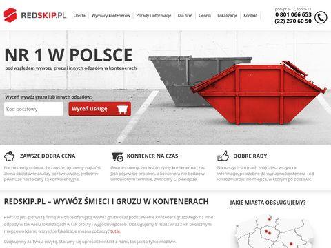 Redskip.pl - kontenery na gruz