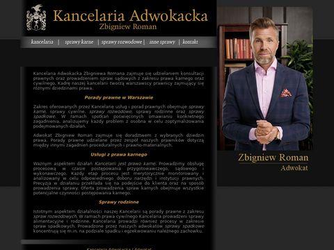 Adwokat Zbigniew Roman - sprawy alimentacyjne