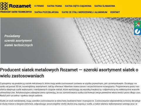 Rozamet - Produkcja Siatek Metalowych