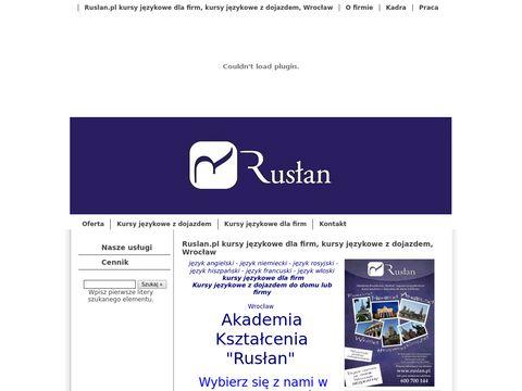 Rusłan- kursy językowe i korepetycje z bezpłatnym dojazdem we Wrocławiu