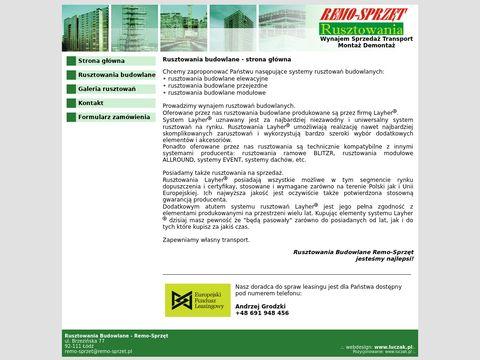 Rusztowania Budowlane. Strona poÅ›wiÄ™cona rusztowaniom firmy remo-sprzet.pl