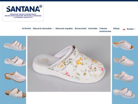 Santana - obuwie ochronne, robocze, białe, medyczne, profilaktyczne i buty powszechnego użytku