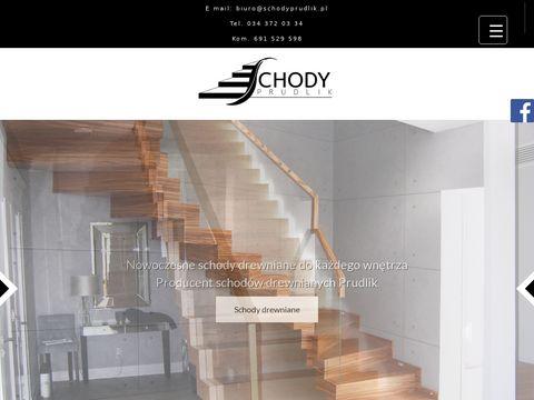 Nowoczesne schody drewniane Prudlik