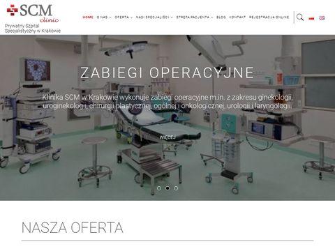 SCM Krak贸w - Centrum Medyczne Diagnostyczno-Chirurgiczne - Urologia, Laryngologia