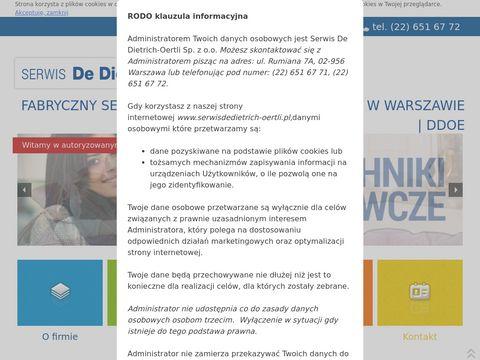 Serwis De Dietrich - Ortelli Warszawa, kotły gazowe - DDOE