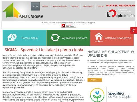 SIGMA monta偶 pomp ciep艂a mazowieckie